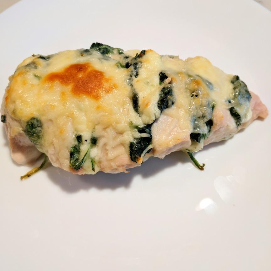 Cheesy Spinach HasslebackChicken
