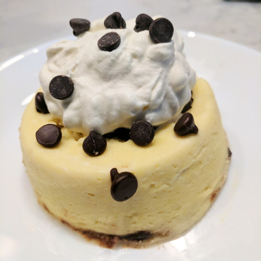 90 Second Chocolate Chip Cheesecake