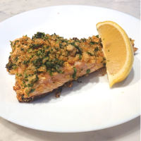"""Panko"" Herb Crusted Salmon"