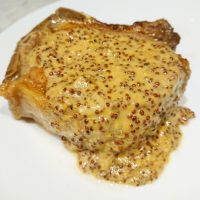 Pork Chop with Creamy Grain Mustard Sauce