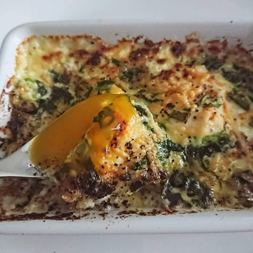 10 Minute Shirred Eggs (Eggs Baked in Cream with Herbs andParmesan)