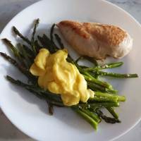 Roasted Asparagus with Lemon-y 1 Minute Hollandaise