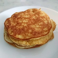 The Fluffiest Keto Maple Flavored Pancakes - 1 Net Carb!